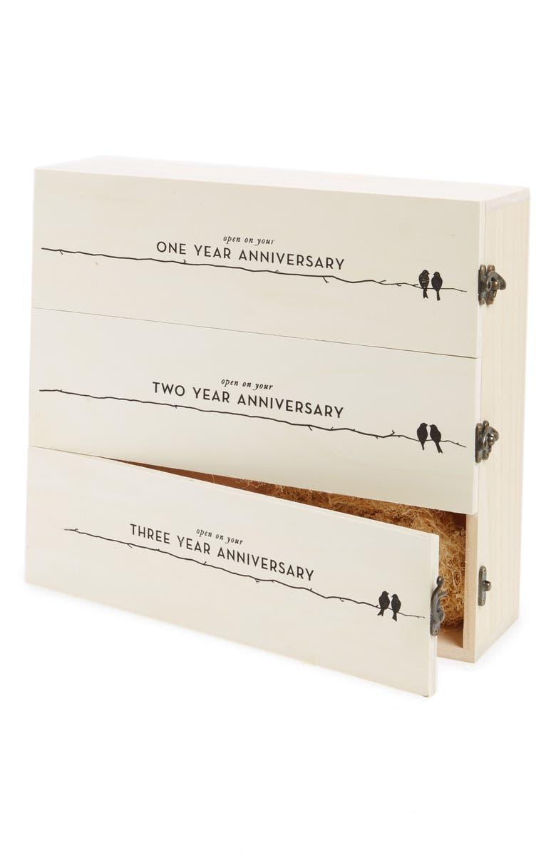 TRUE FABRICATIONS Anniversary Wine Box, Main, color, 250