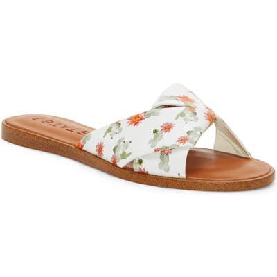 1.state Travor Slide Sandal, White