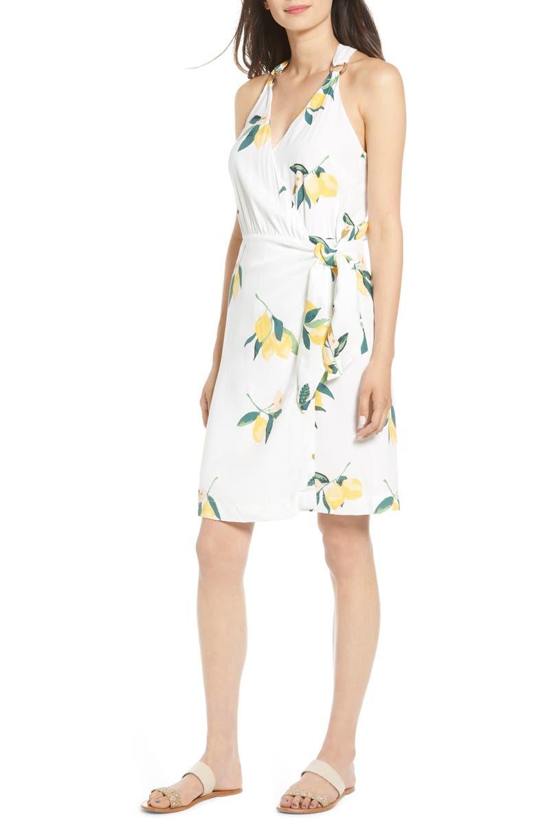 RAILS Trista Print Wrap Dress, Main, color, LEMON GROVE