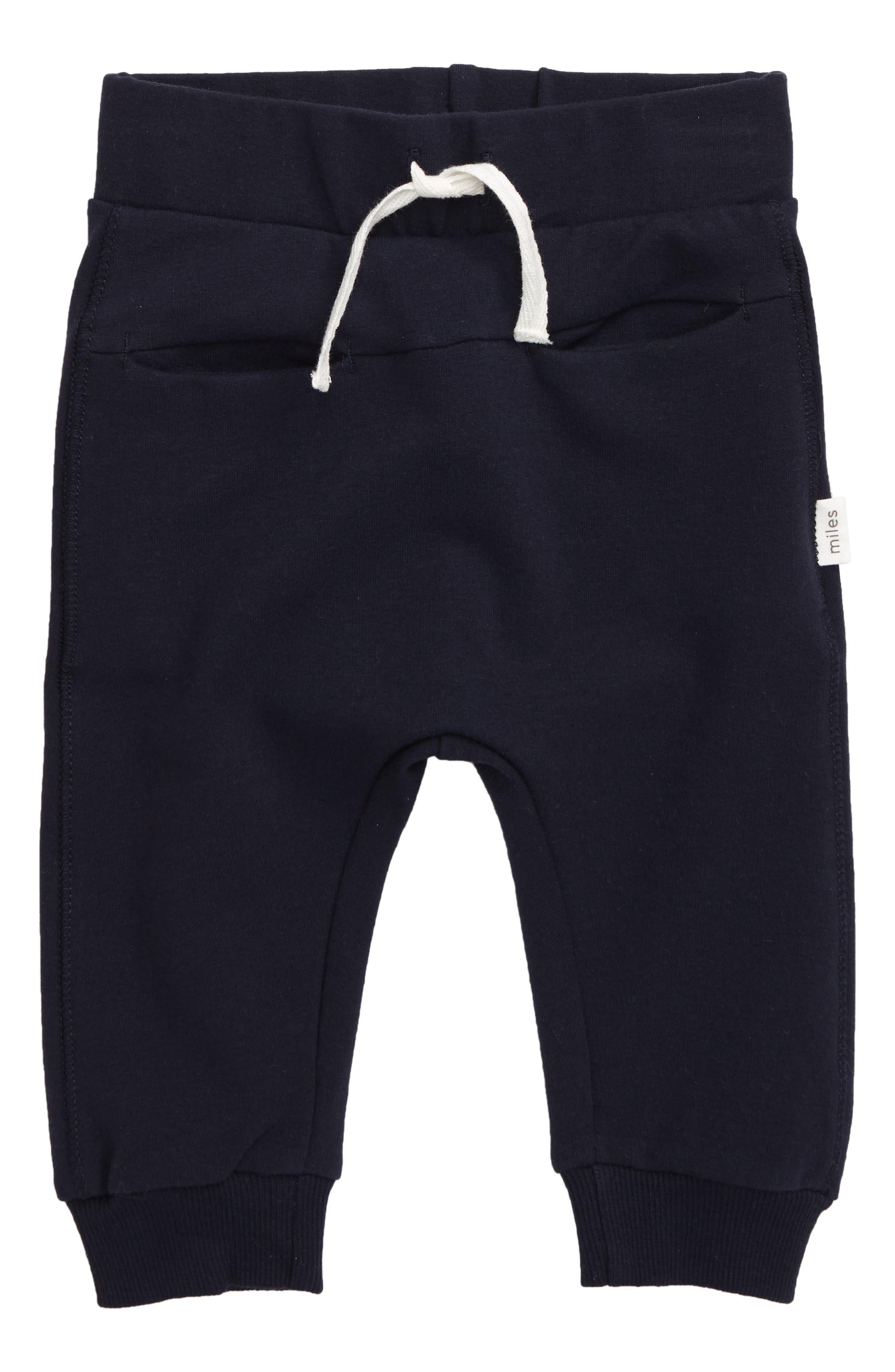 Infant Boys Miles Baby Stretch Organic Cotton Jogger Pants Size 18M  Blue