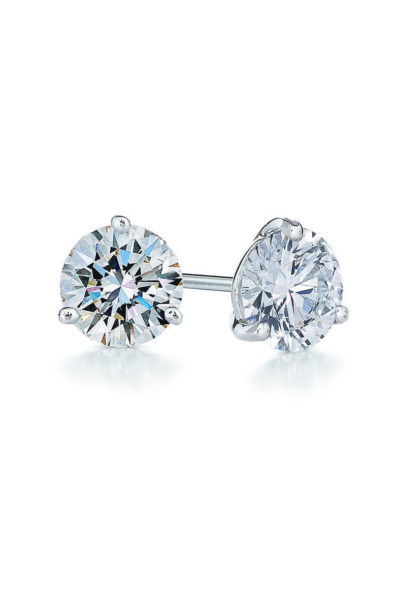 KWIAT 1.25ct tw Diamond & Platinum Stud Earrings, Main, color, PLATINUM