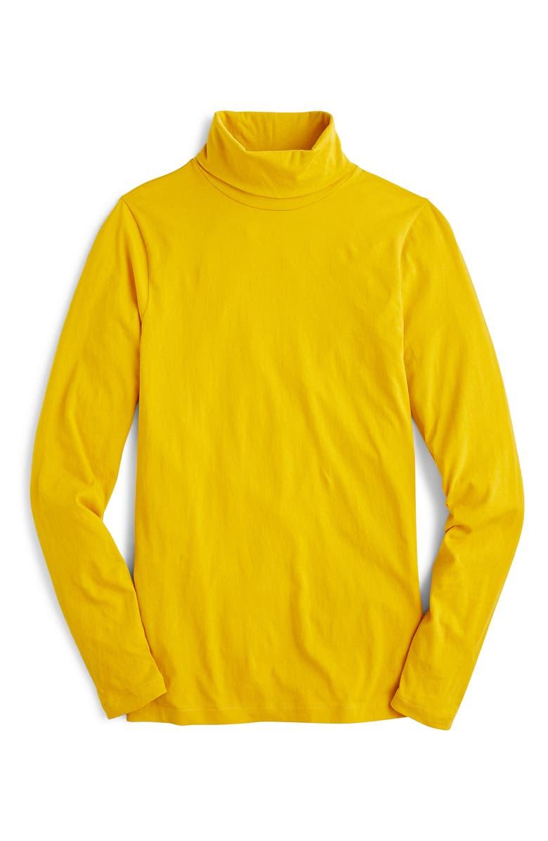 J.CREW Tissue Turtleneck, Main, color, HONEY GLAZE