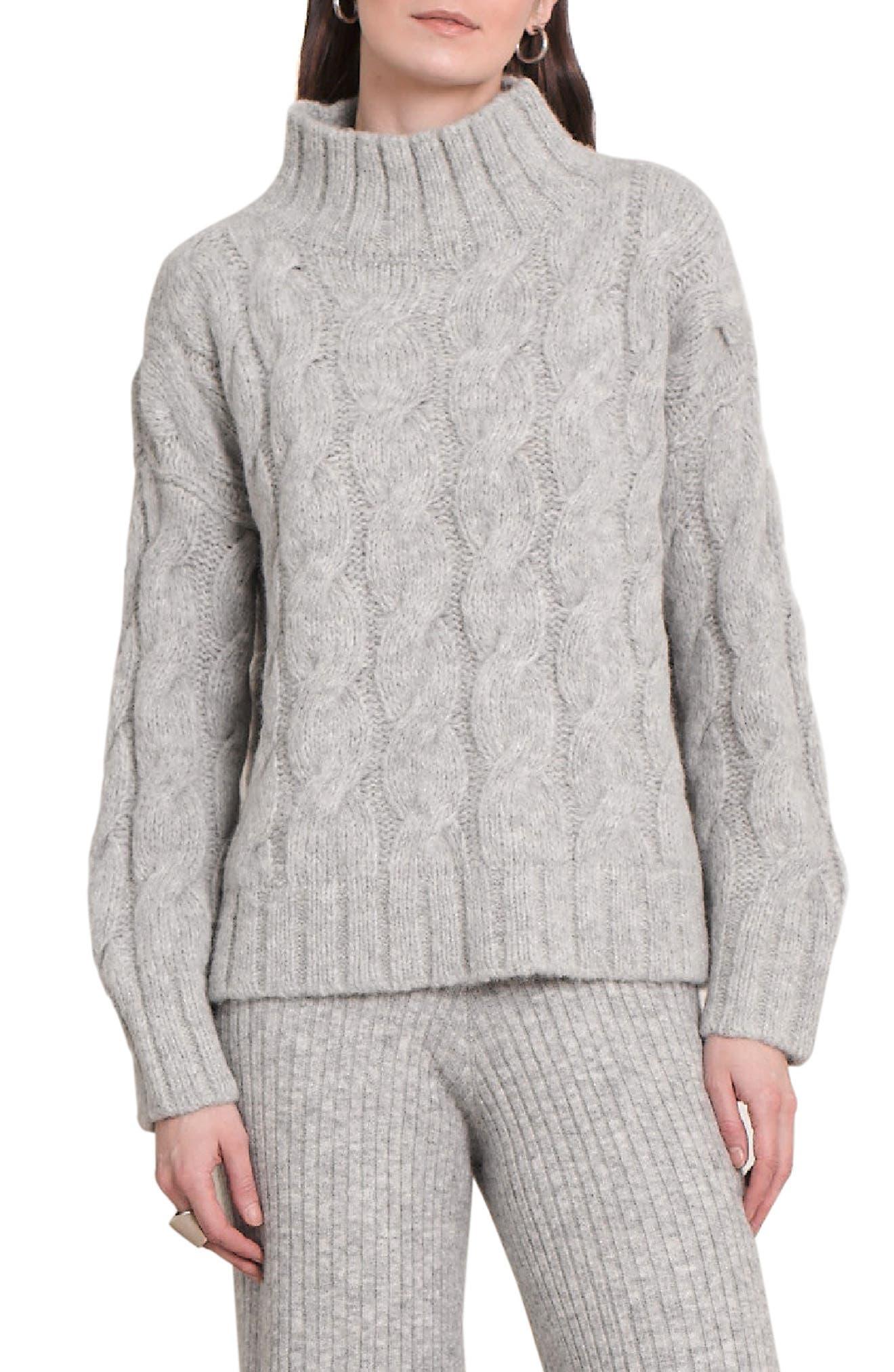 Jessa Mock Neck Alpaca Blend Sweater