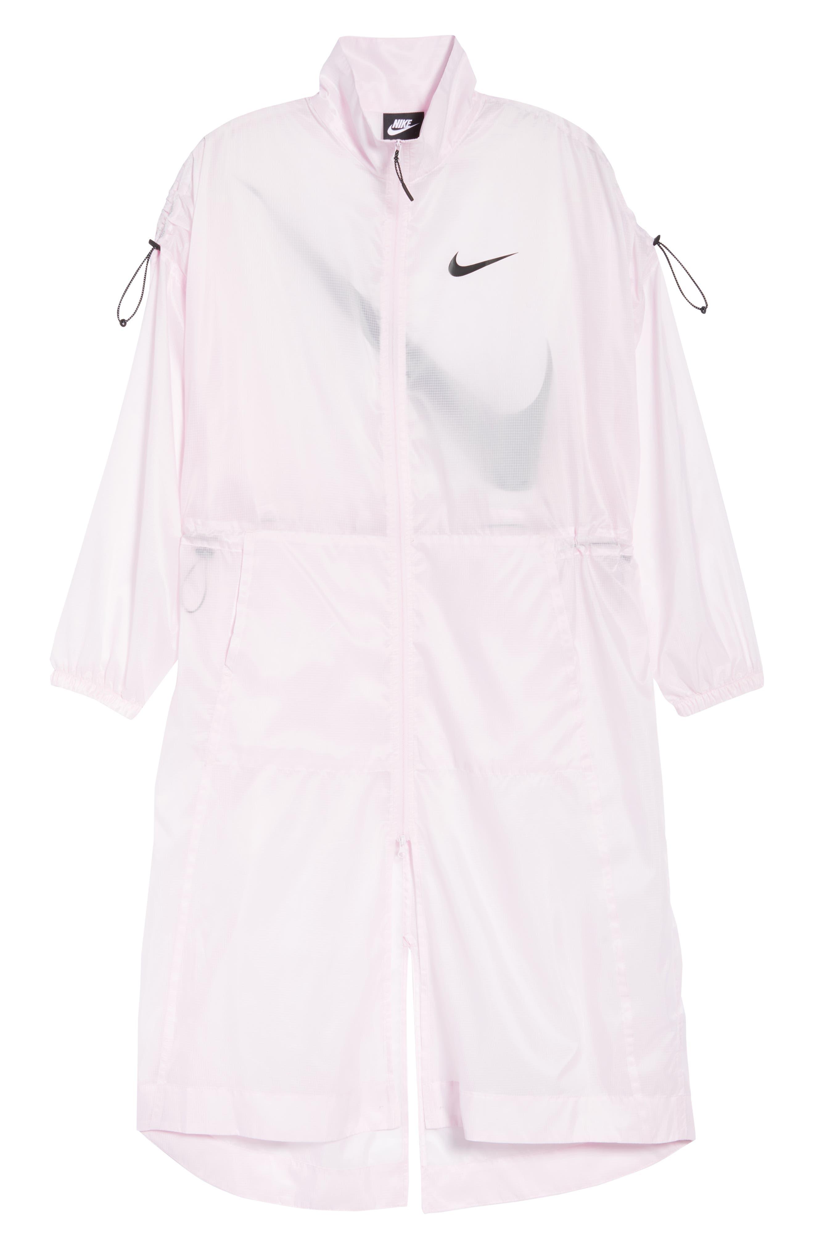 ,                             Sportswear Women's Woven Jacket,                             Alternate thumbnail 7, color,                             PINK FOAM/ BLACK