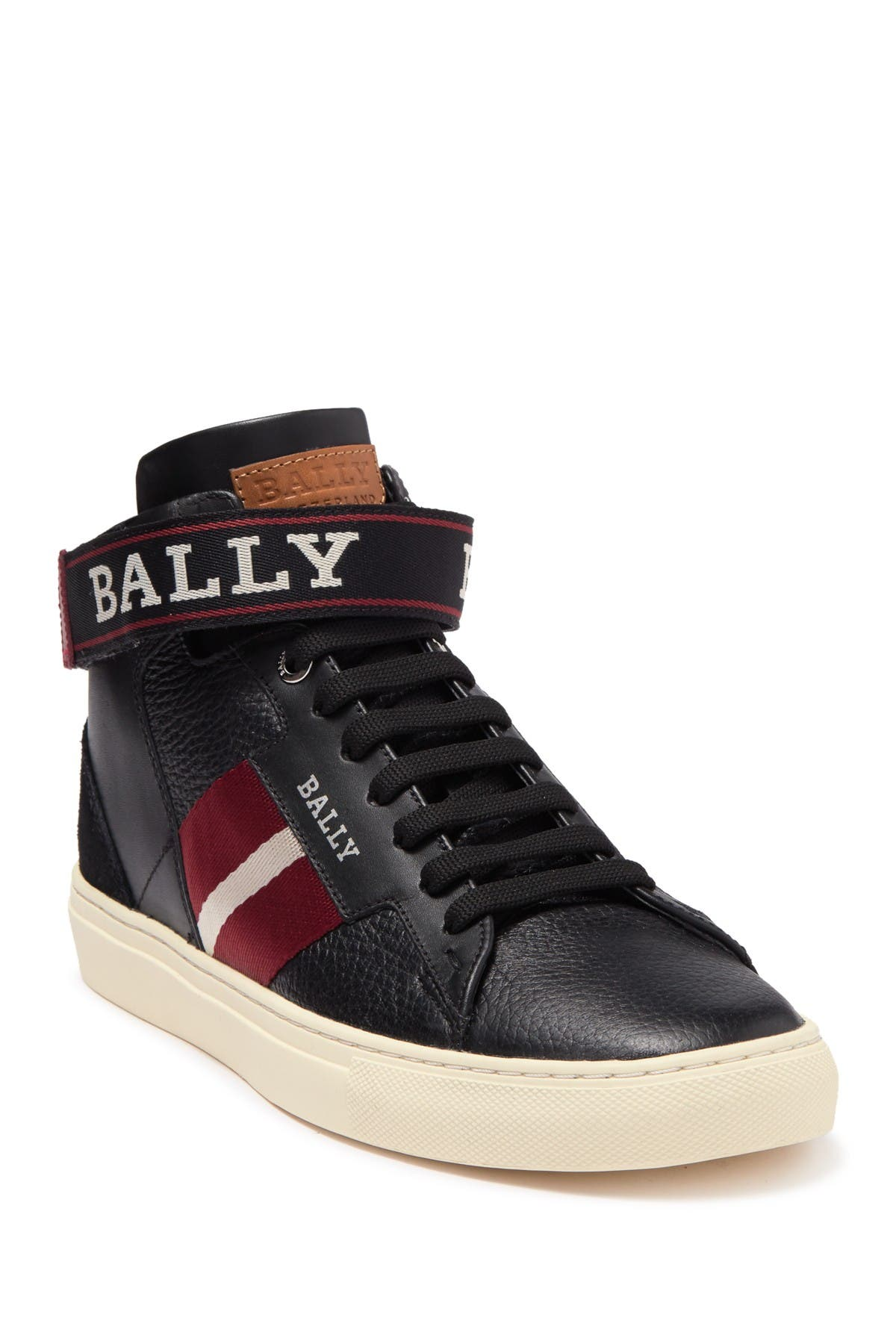BALLY   Heros Leather High Top Sneaker