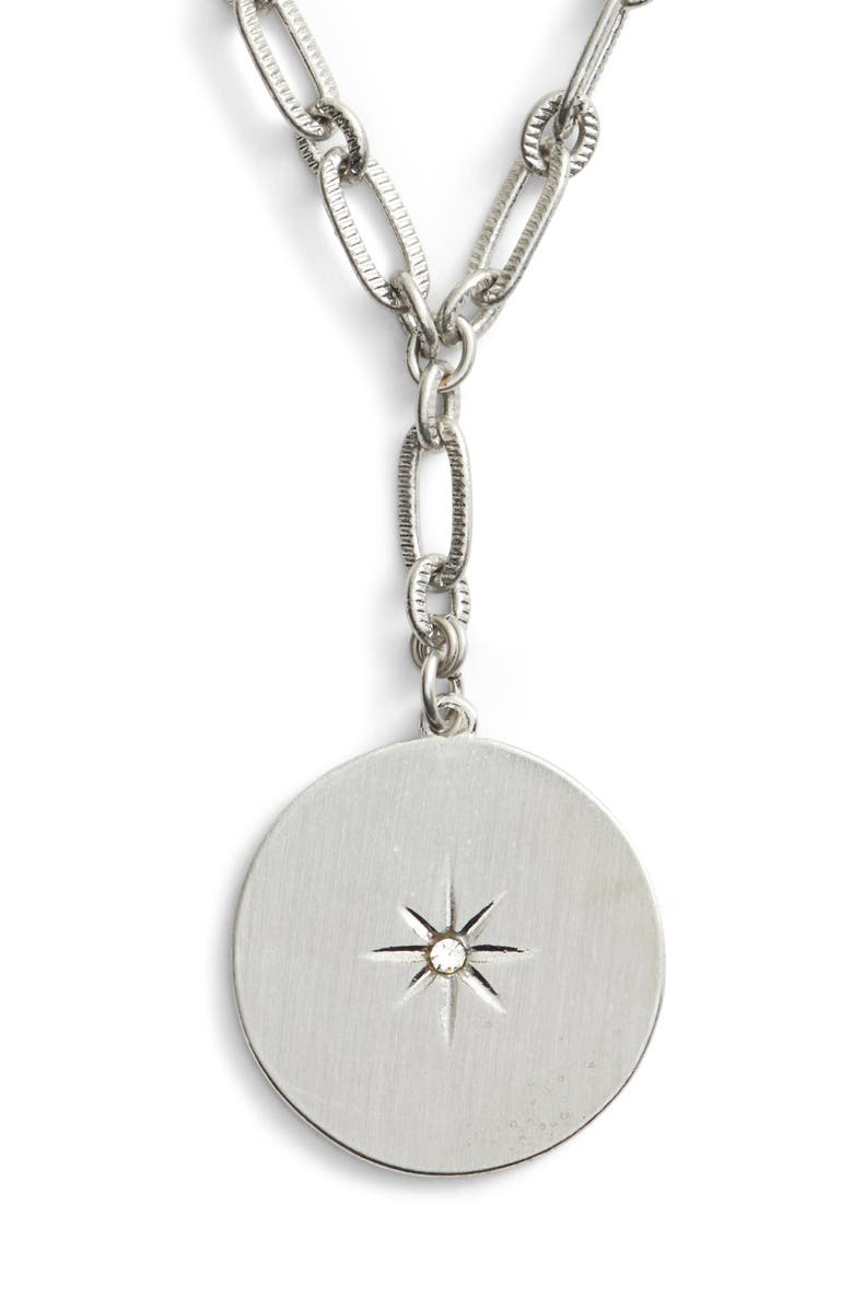 TREASURE & BOND Star Disc Short Y Necklace, Main, color, 040