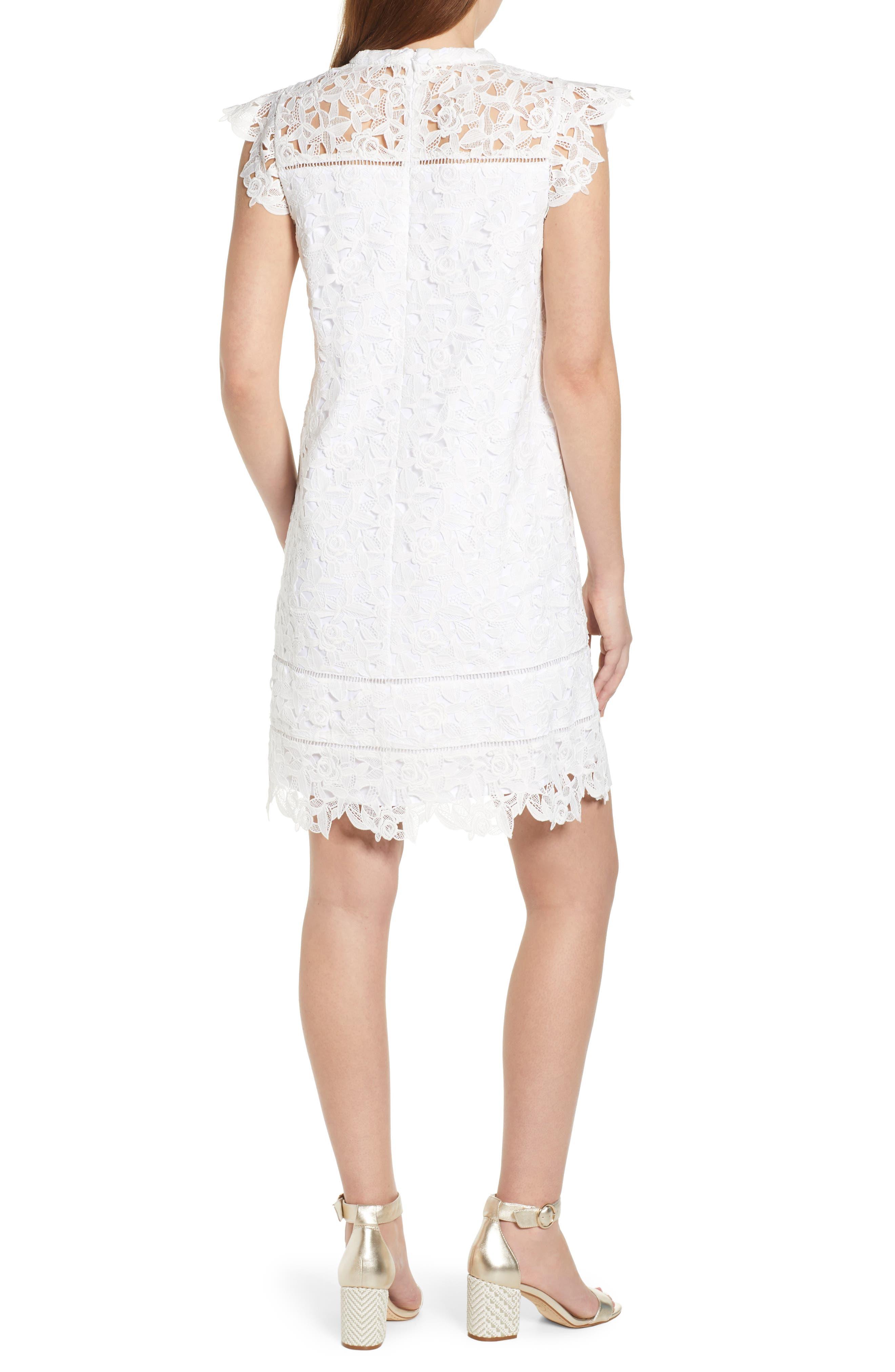 ,                             Lace Shift Dress,                             Alternate thumbnail 2, color,                             WHITE CAP