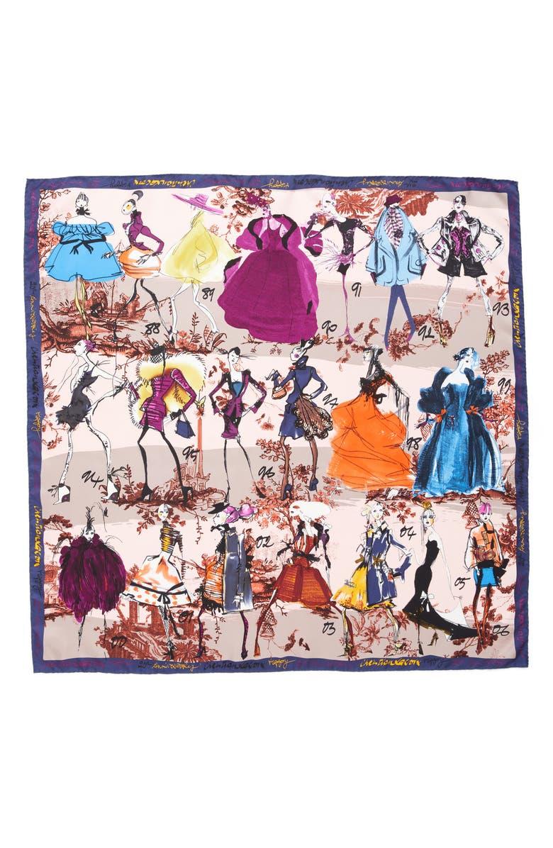 CHRISTIAN LACROIX '20 Ans' Square Silk Scarf, Main, color, 250