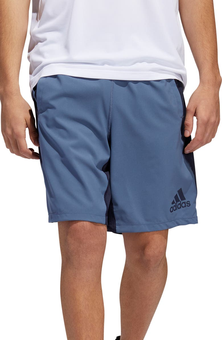 ADIDAS 4KRFT Climalite<sup>®</sup> Woven Shorts, Main, color, TECH INK/ LEGEND INK