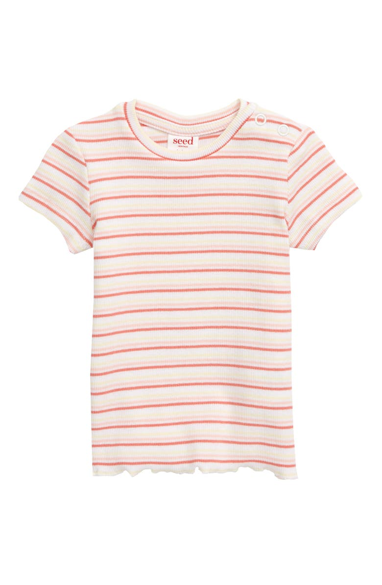 SEED HERITAGE Stripe Ribbed T-Shirt, Main, color, 600