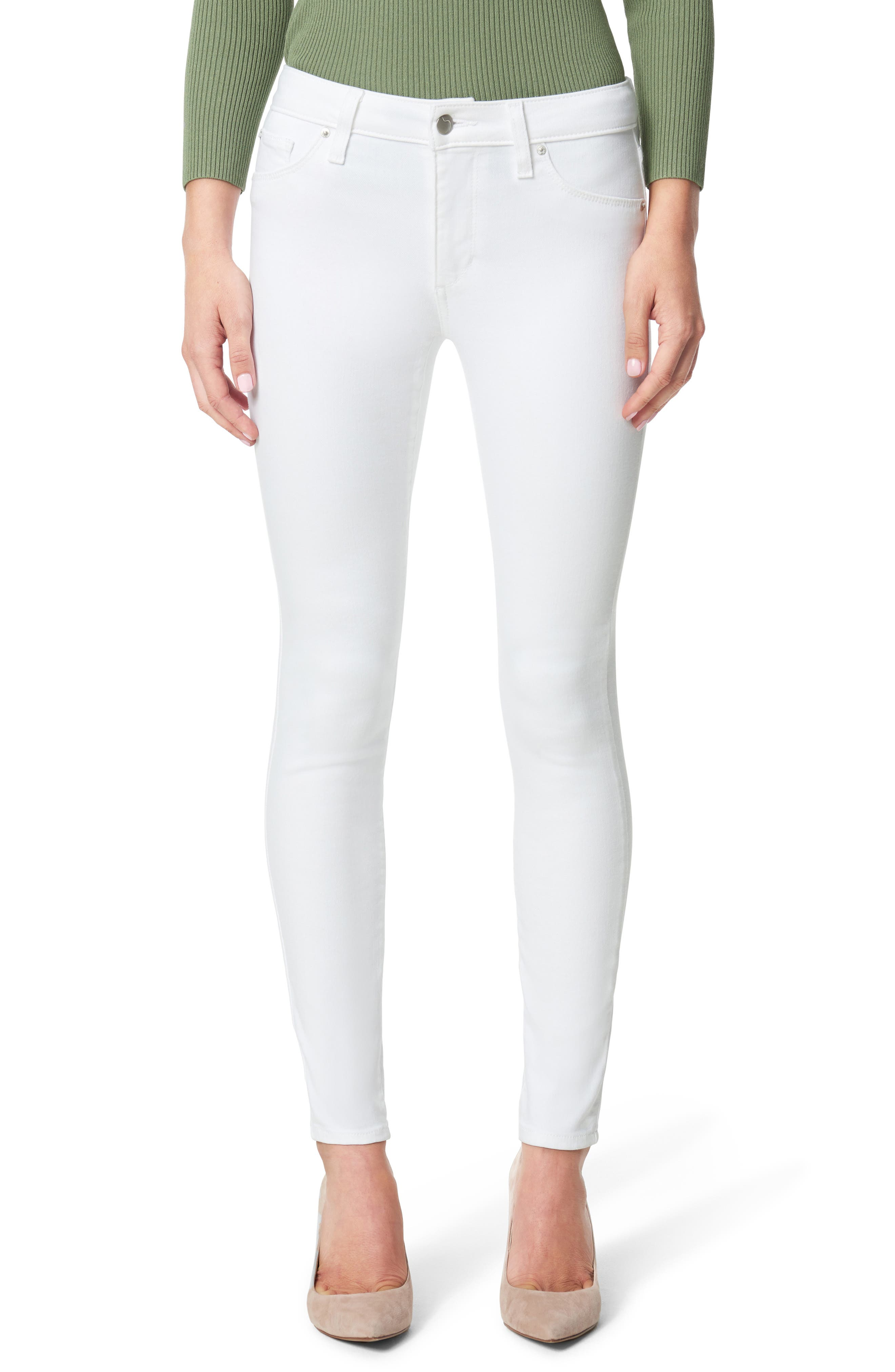 Women's Joe's Flawless The Icon Ankle Skinny Jeans,  25 - White
