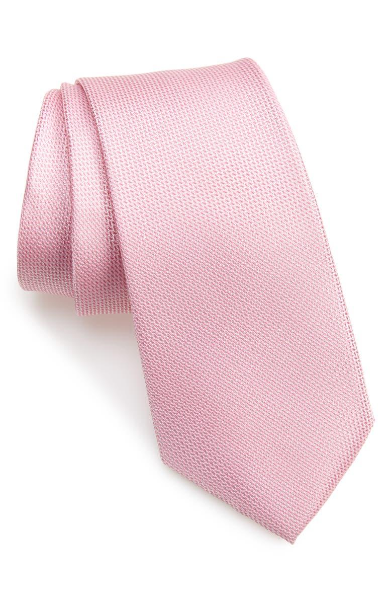 NORDSTROM MEN'S SHOP Joule Silk Tie, Main, color, PINK