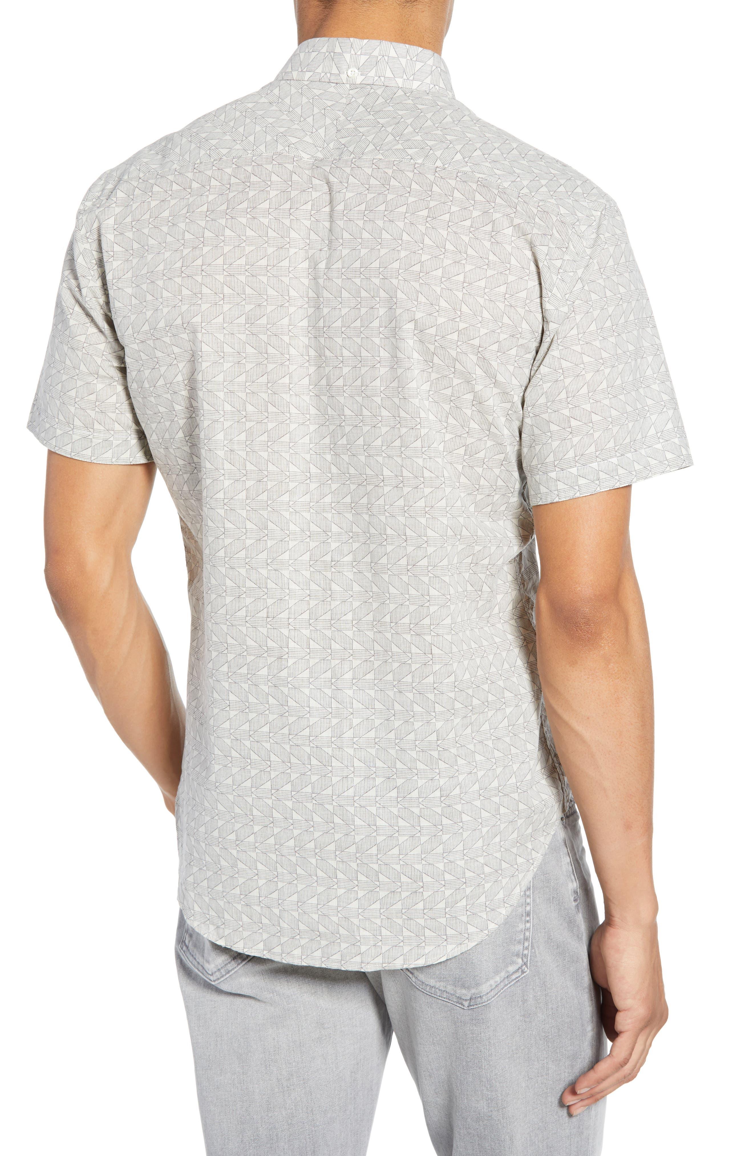 ,                             Tuscumbia Palisades Slim Fit Sport Shirt,                             Alternate thumbnail 3, color,                             NAVY/ WHITE