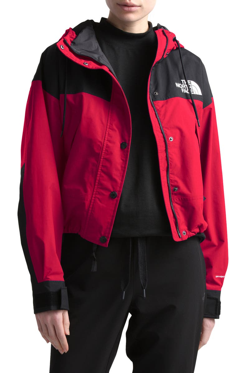 THE NORTH FACE Reign On Water Repellent Hooded Jacket, Main, color, TNF RED