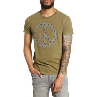 John Varvatos Star Usa Peace Star Fill T-Shirt, Green