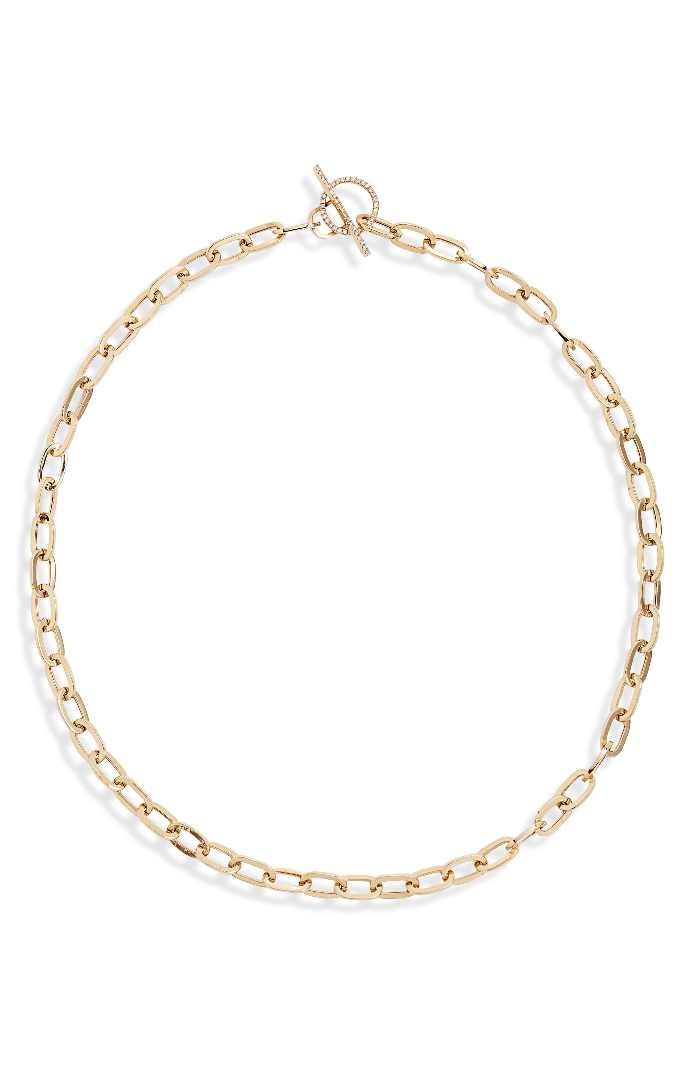 Jumbo Diamond Toggle Necklace