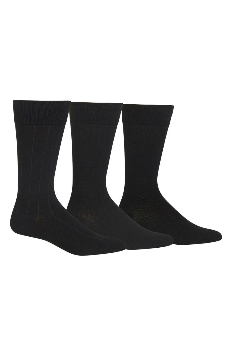 POLO RALPH LAUREN Dress Socks, Main, color, BLACK