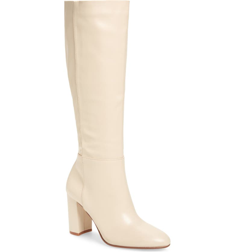 CHINESE LAUNDRY Krafty Knee High Boot, Main, color, ECRU LEATHER