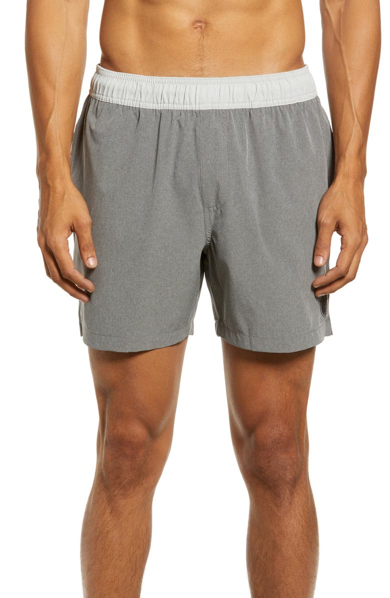 CHUBBIES The Two Tones Hybrid Shorts, Main, color, DARK GREY