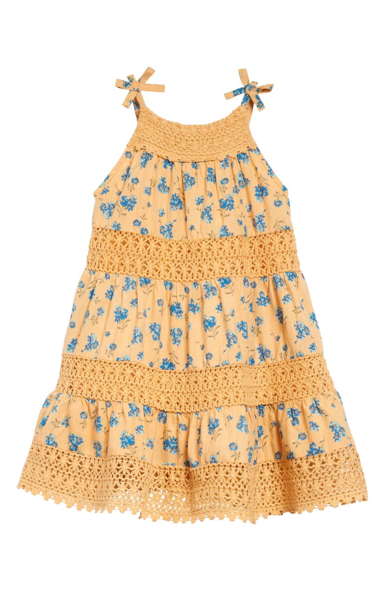 PEEK AREN'T YOU CURIOUS Penelope Floral & Lace Tiered Dress, Main, color, PRINT