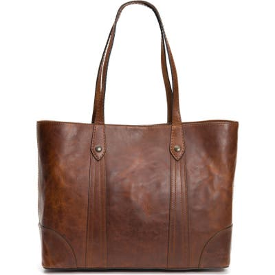 Frye Melissa Leather Shopper - Brown