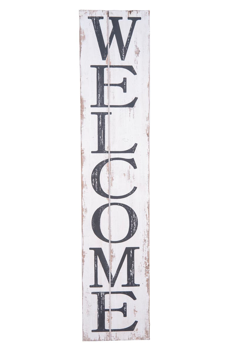 FORESIDE Welcome Wood Wall Art, Main, color, 100