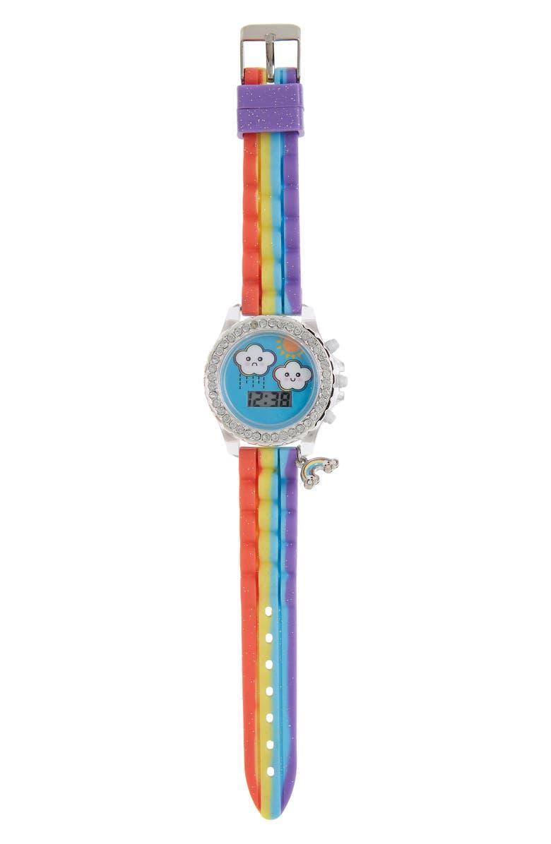 ACCUTIME Rainbow Digital Charm Watch, 35mm, Main, color, 650
