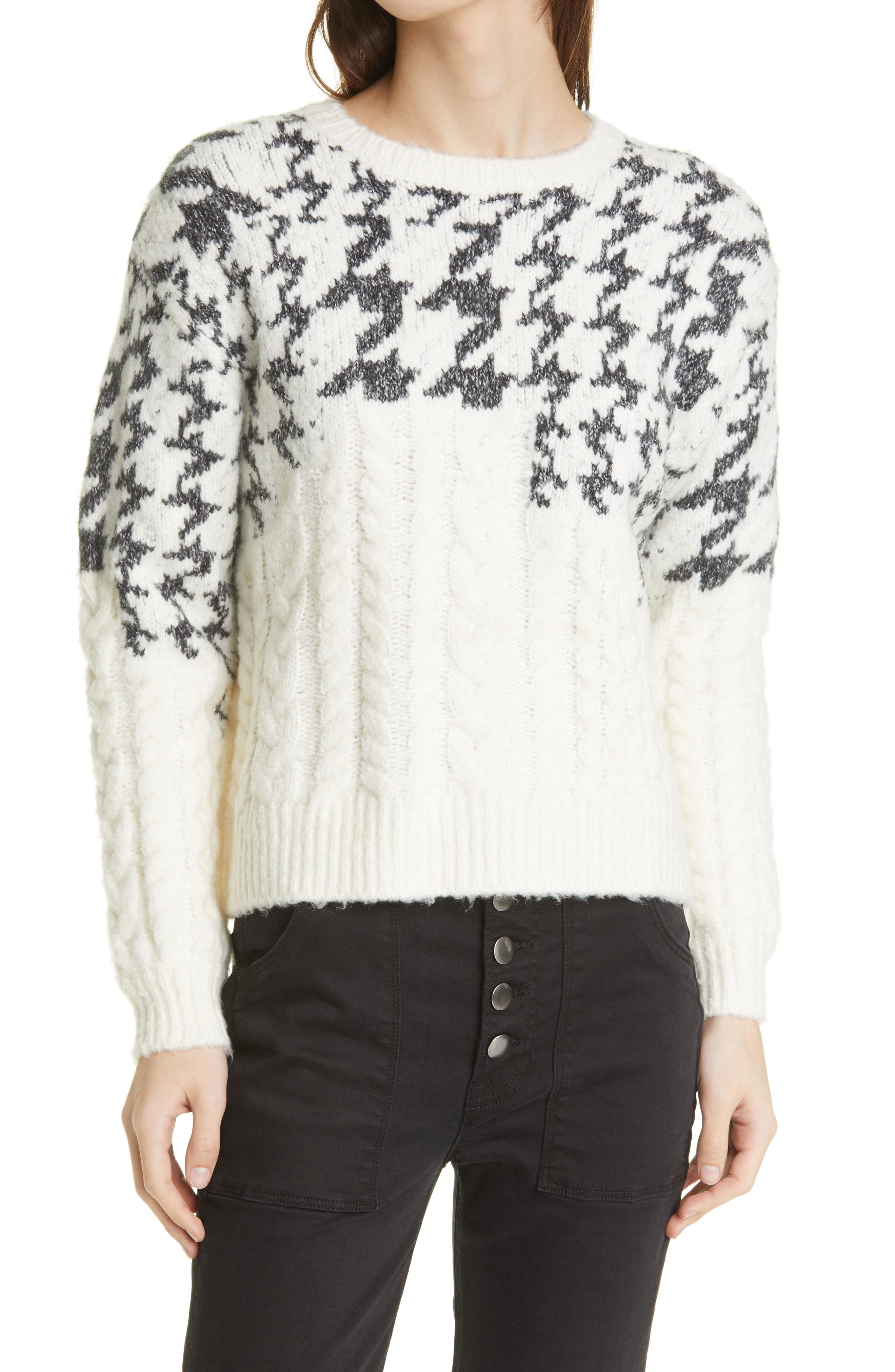 Riley Mixed Stitch Crewneck Sweater