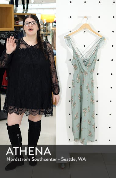 Dual Strap Floral Wrap Midi Dress, sales video thumbnail