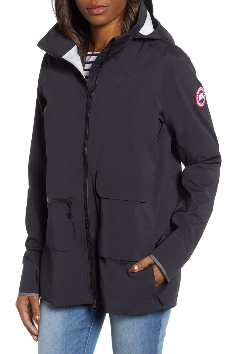 CANADA GOOSE Pacificia Waterproof Jacket, Main, color, BLACK