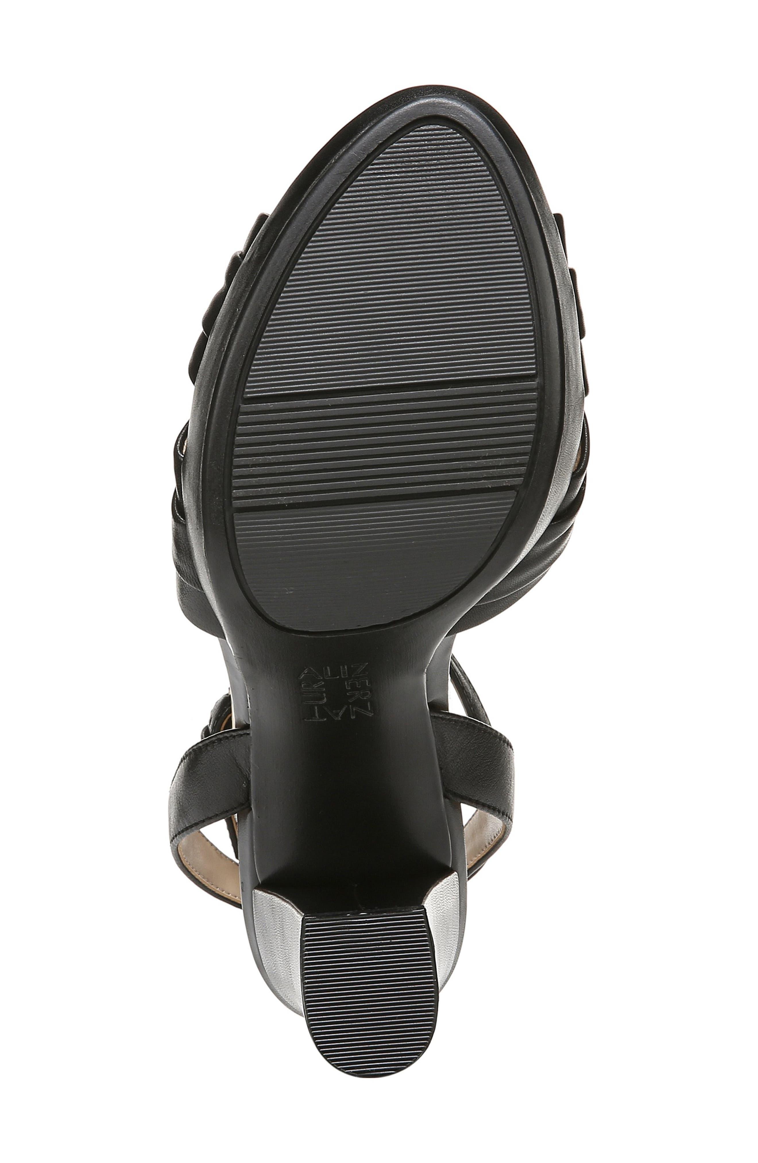 ,                             Avril Ankle Strap Sandal,                             Alternate thumbnail 6, color,                             BLACK LEATHER