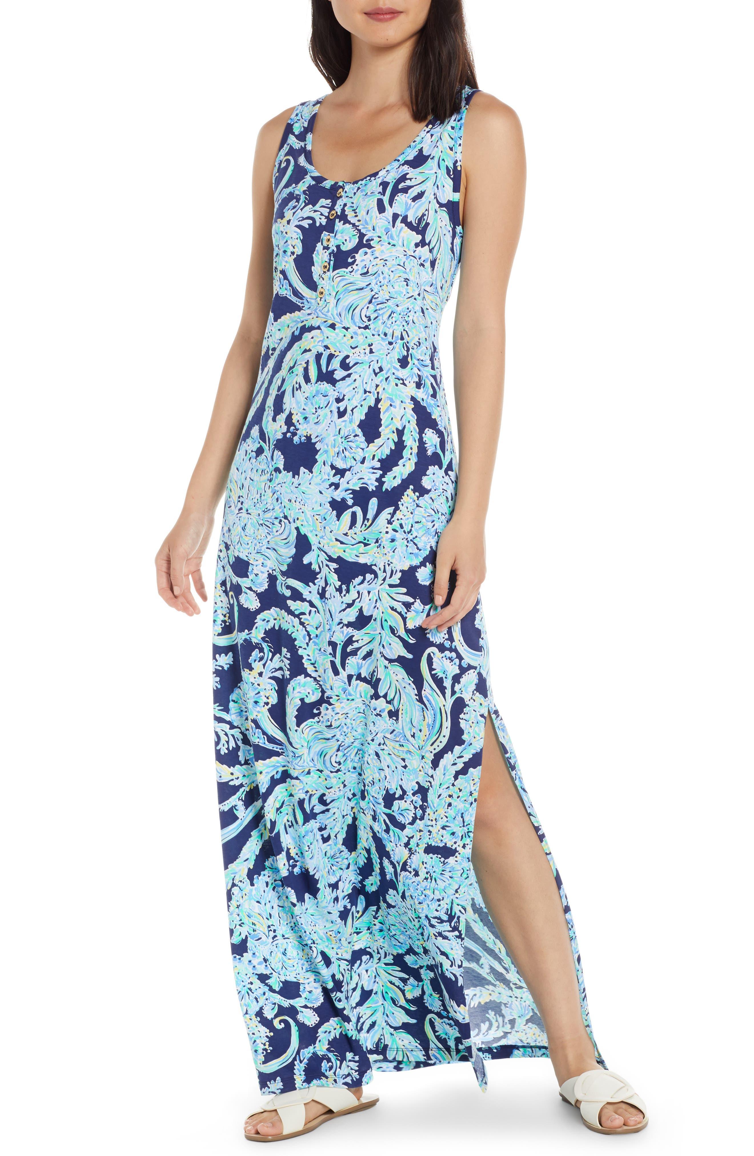 Lilly Pulitzer Merrill Maxi Dress, Blue