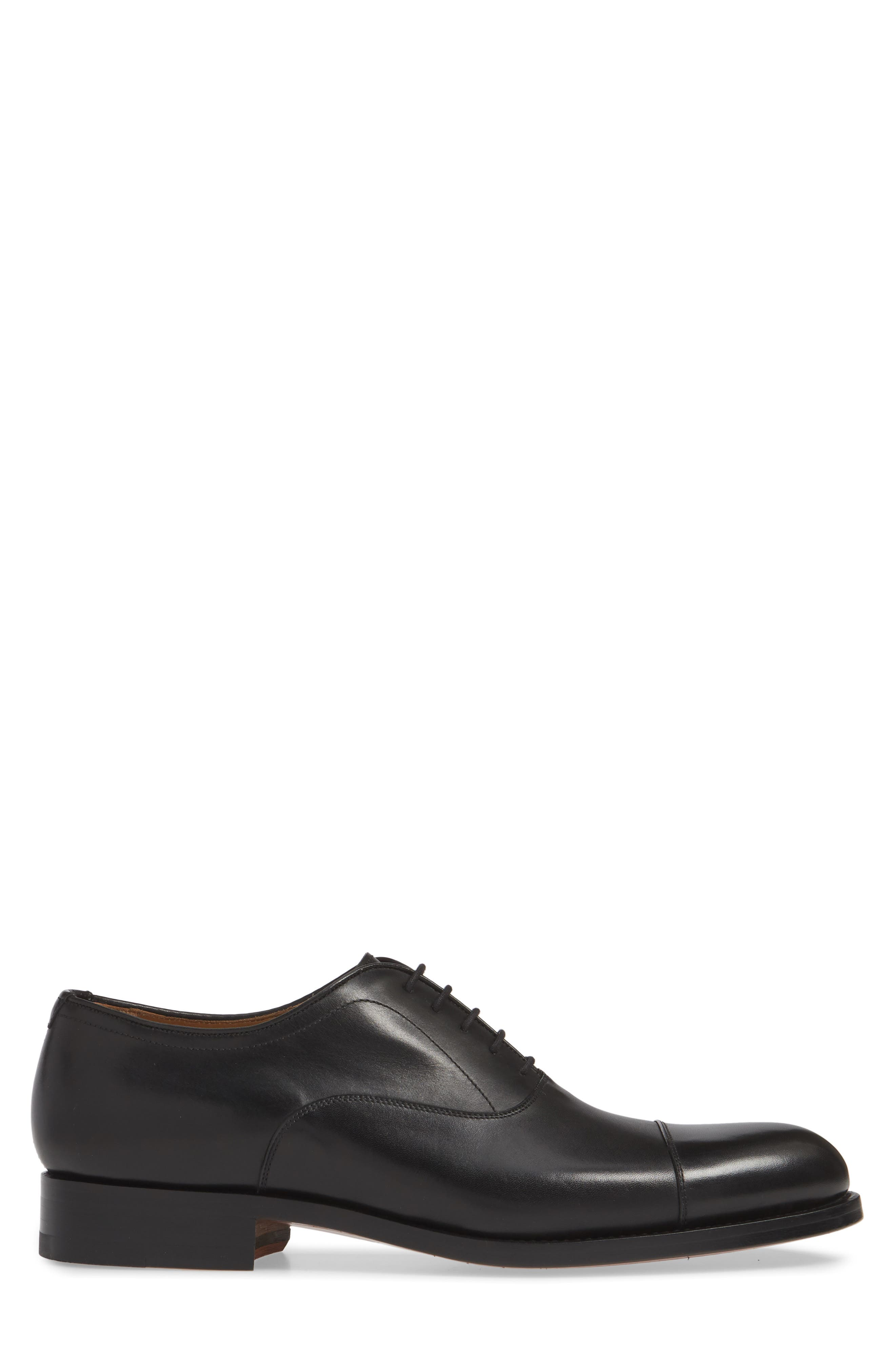 ,                             Jefferson Cap Toe Oxford,                             Alternate thumbnail 3, color,                             BLACK LEATHER