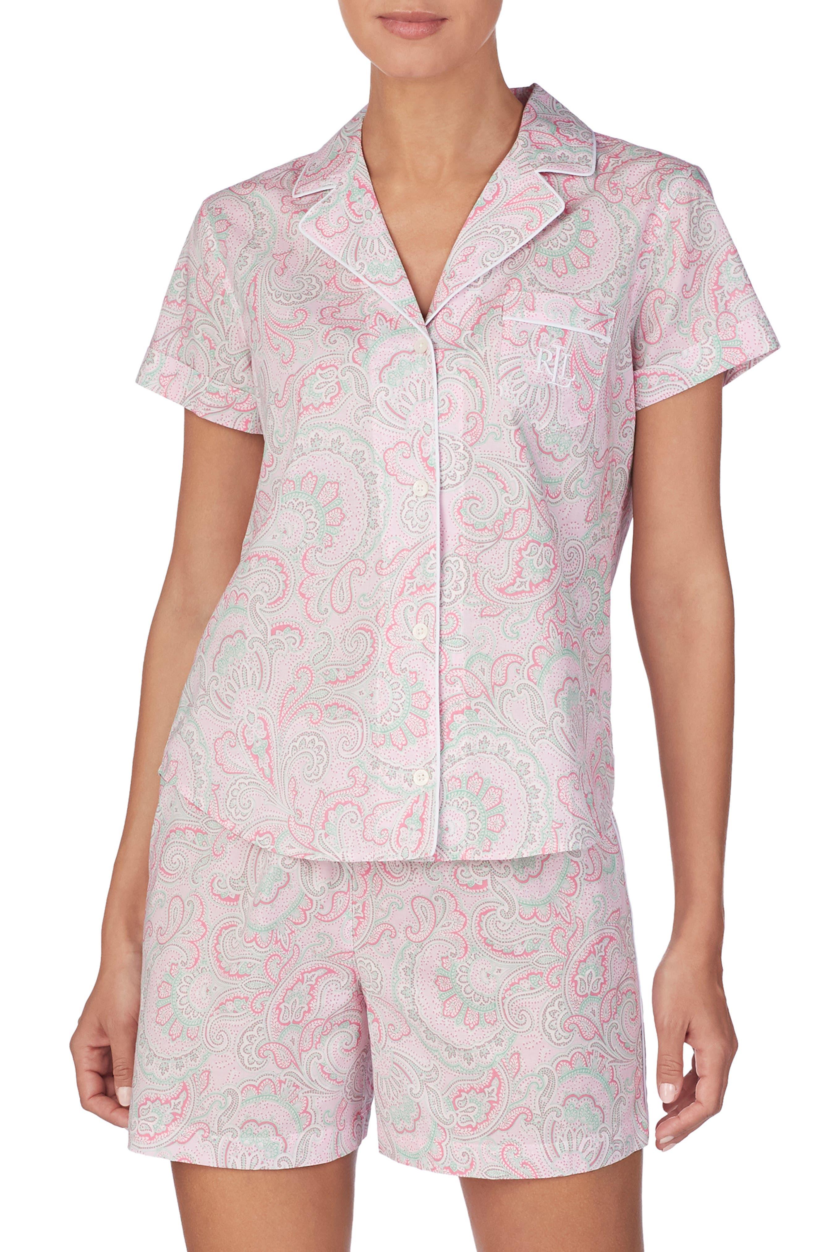 Lauren Ralph Lauren Short Pajamas, Pink