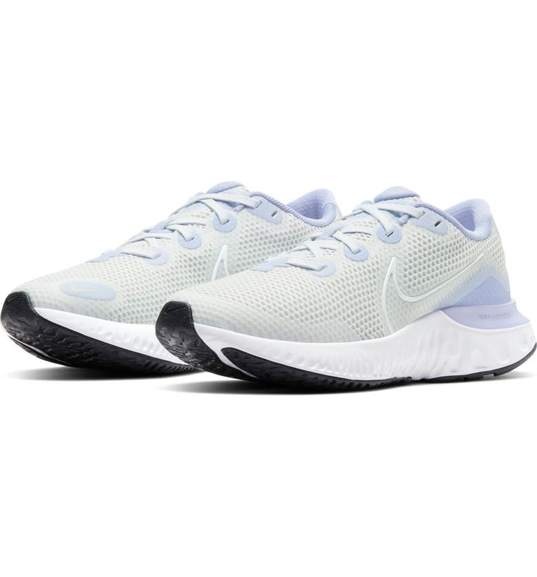 NIKE Renew Run GS Running Shoe, Main, color, DUST/ WHITE-THISTLE-BLACK
