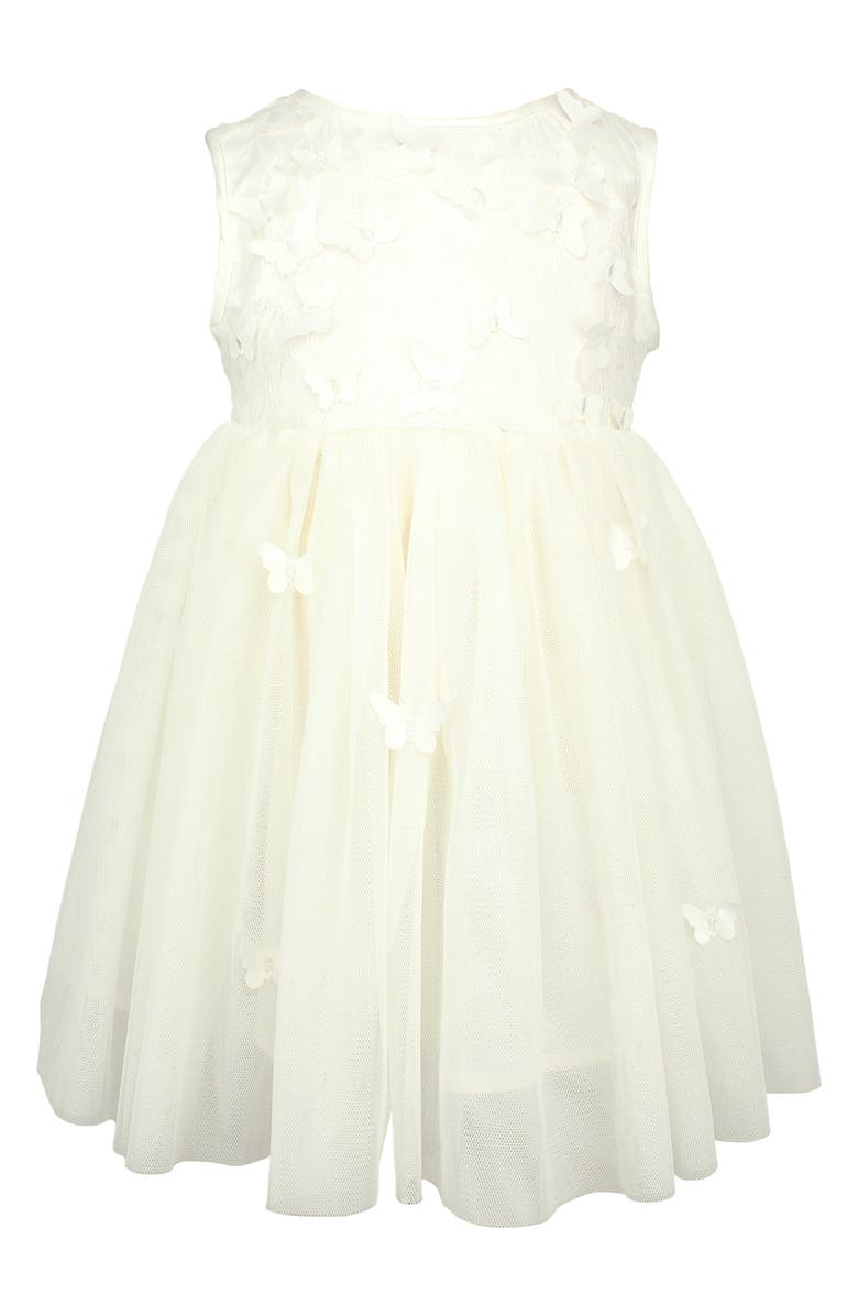 POPATU Butterfly Tulle Dress, Main, color, WHITE