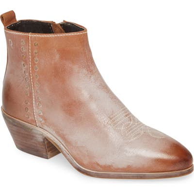 Roan Aggie Bootie- Brown