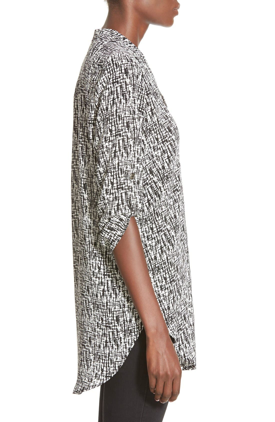 ,                             Perfect Roll Tab Sleeve Tunic,                             Alternate thumbnail 175, color,                             004