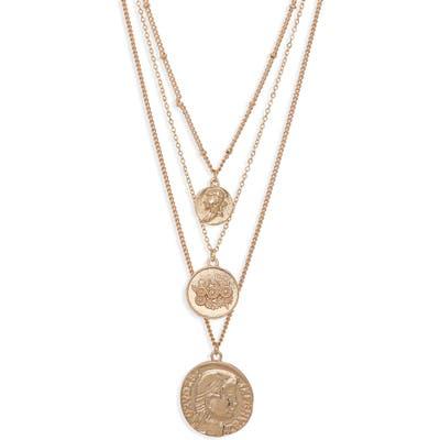 Bp. Set Of 3 Medallion Pendant Necklaces