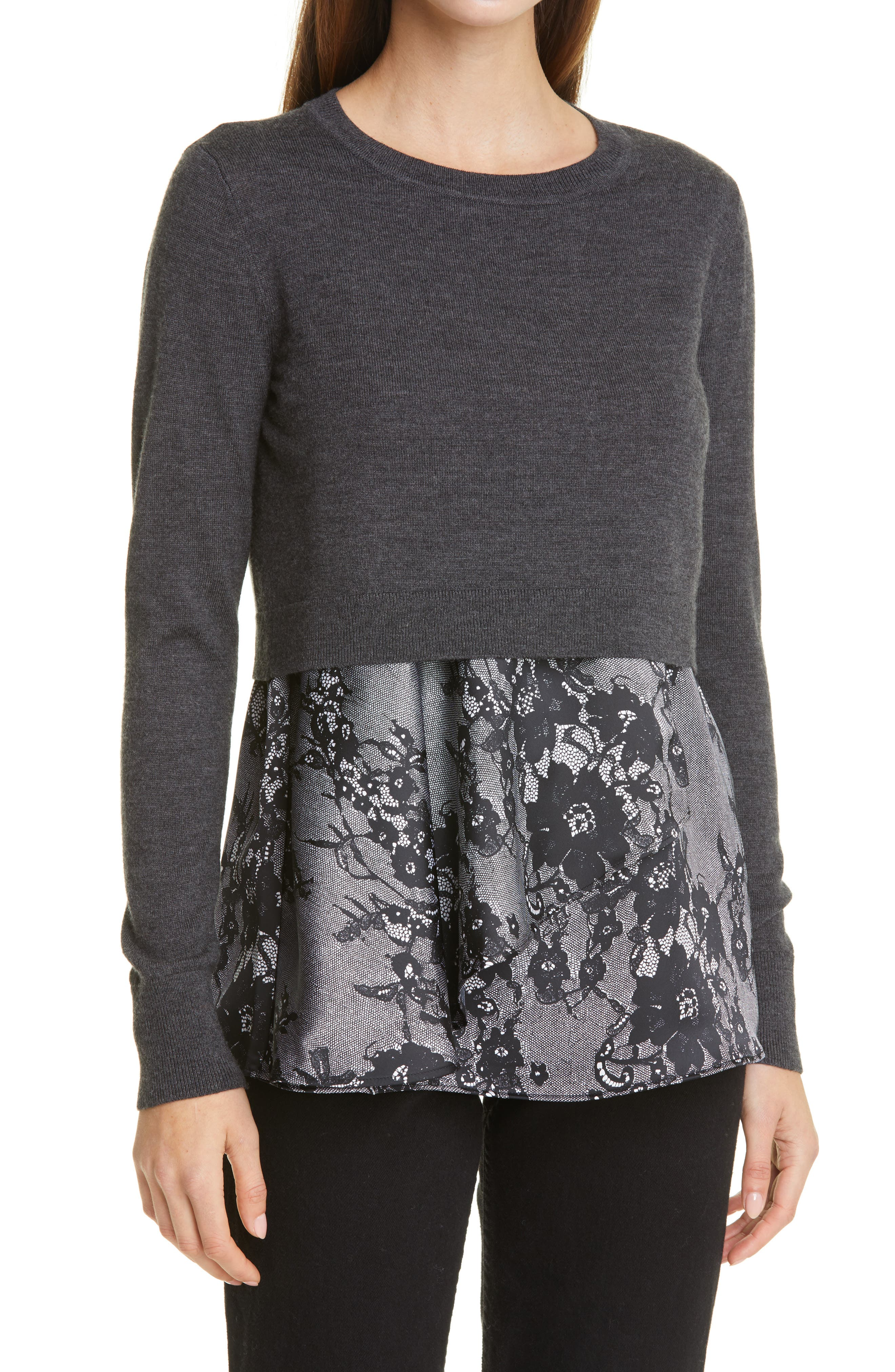 Club Monaco Claribel Layered Look Merino Wool Sweater   Nordstrom
