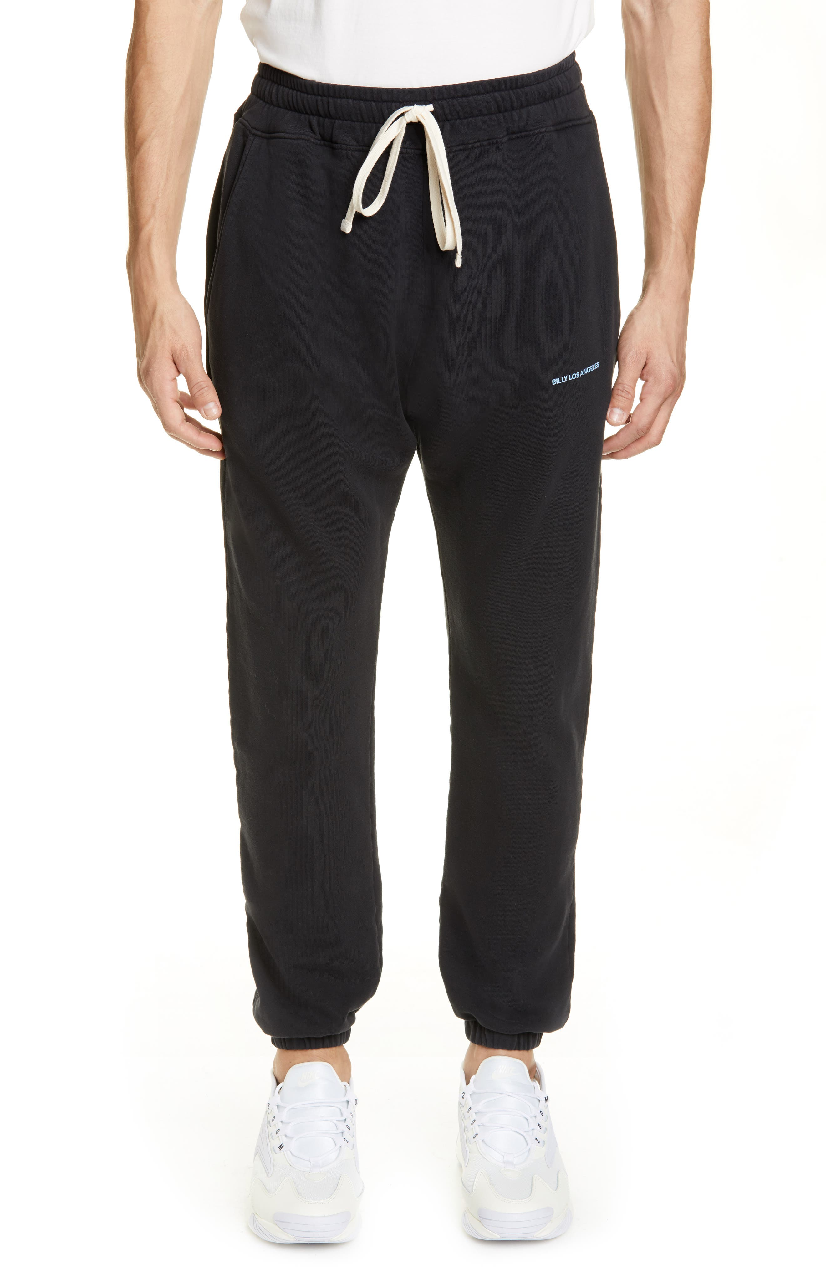 Billy Los Angeles Graphic Clout Sweatpants, Black
