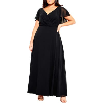 Plus Size City Chic Sweet Wishes Maxi Dress, Black