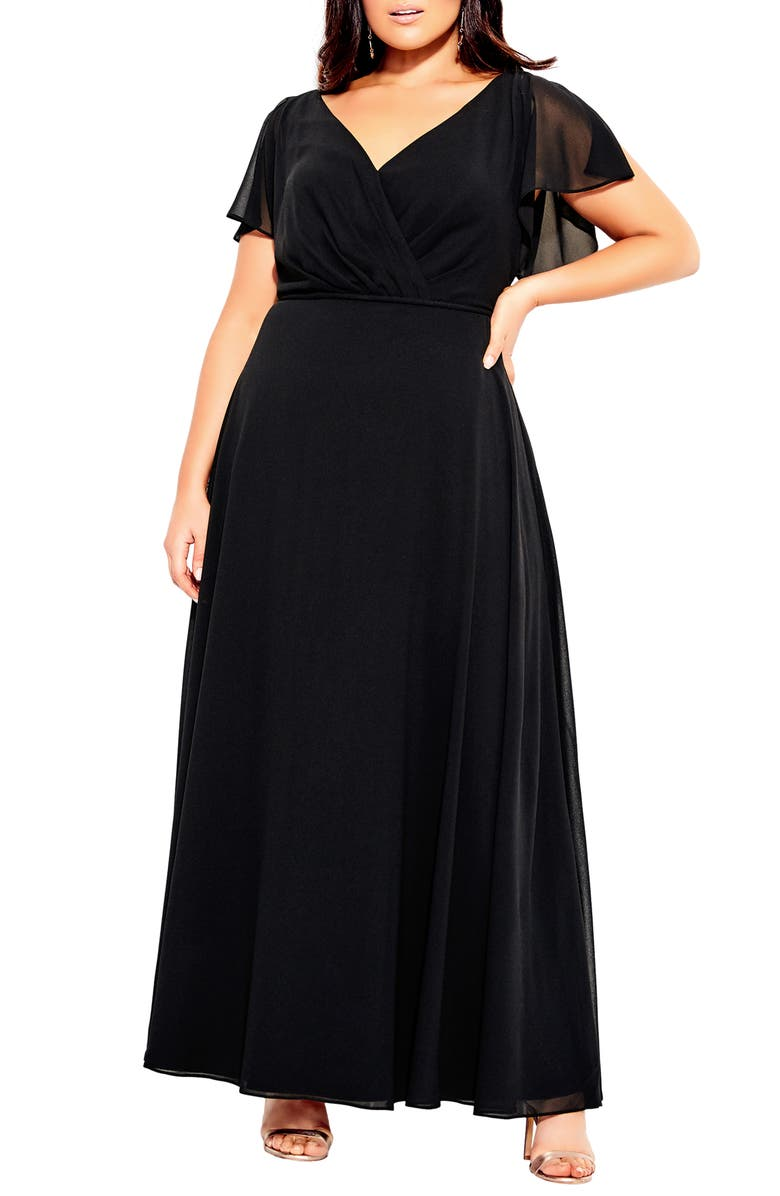 CITY CHIC Sweet Wishes Maxi Dress, Main, color, 001
