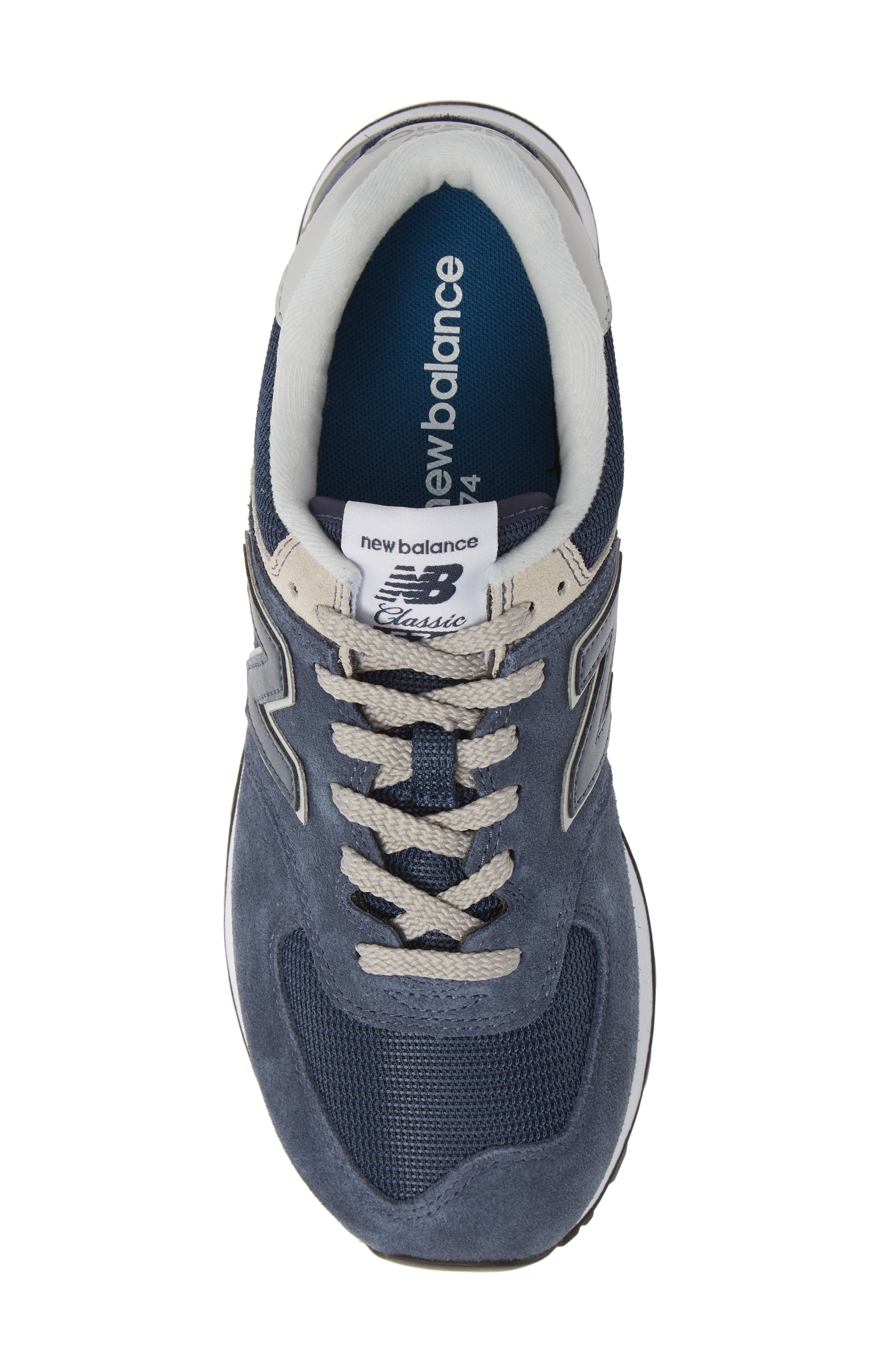 ,                             574 Classic Sneaker,                             Alternate thumbnail 5, color,                             BLACK IRIS
