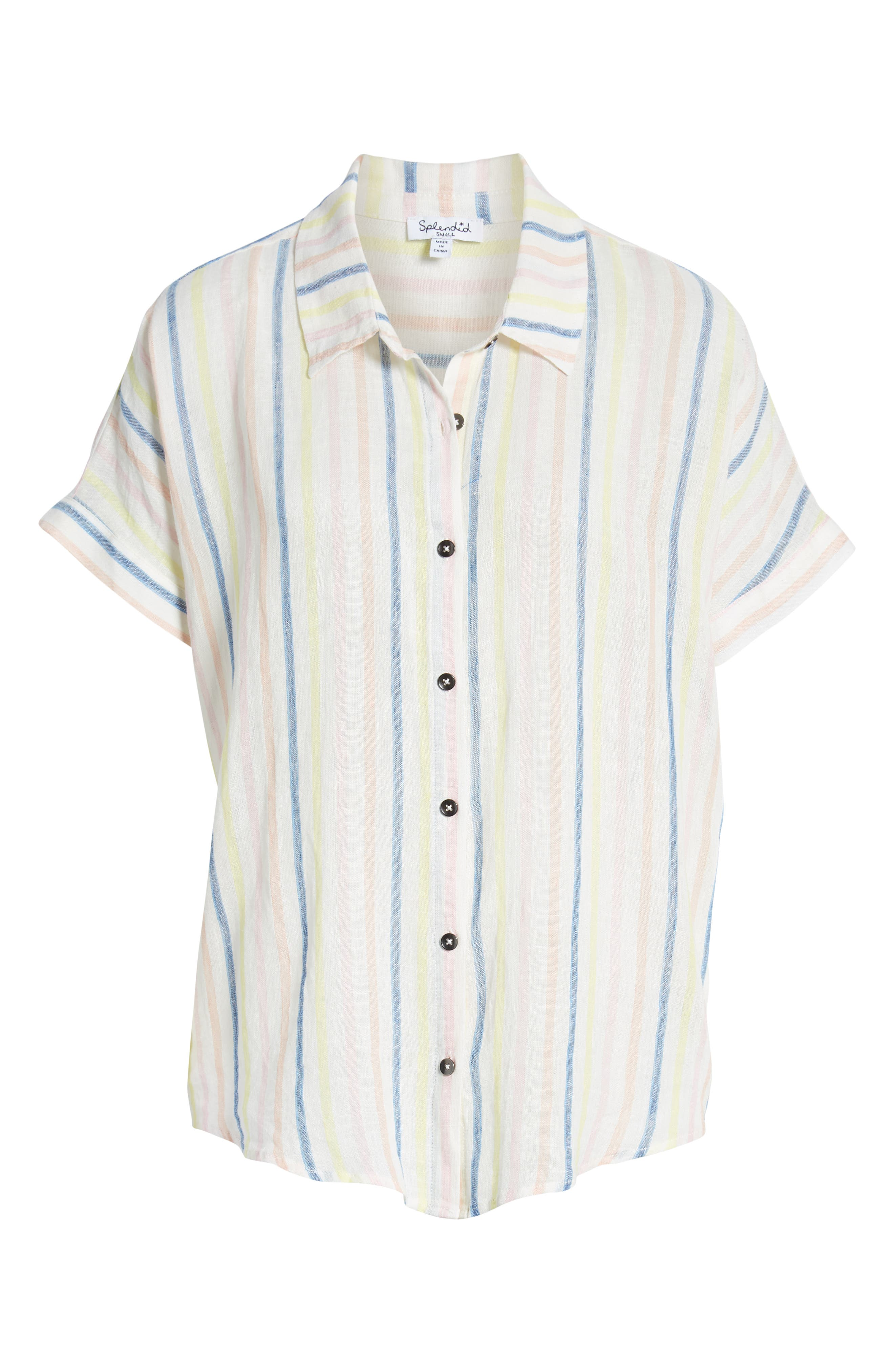 ,                             Picnic Stripe Shirt,                             Alternate thumbnail 6, color,                             NATURAL