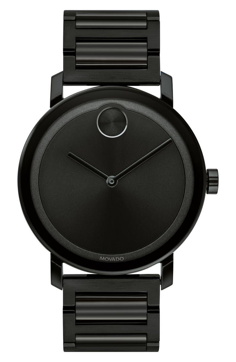 MOVADO Bold Evolution Bracelet Watch, 40mm, Main, color, 001