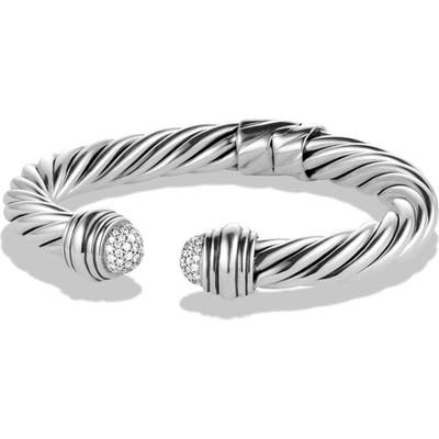 David Yurman Cable Classics Pave Tip Bracelet With Diamonds, 8.5mm