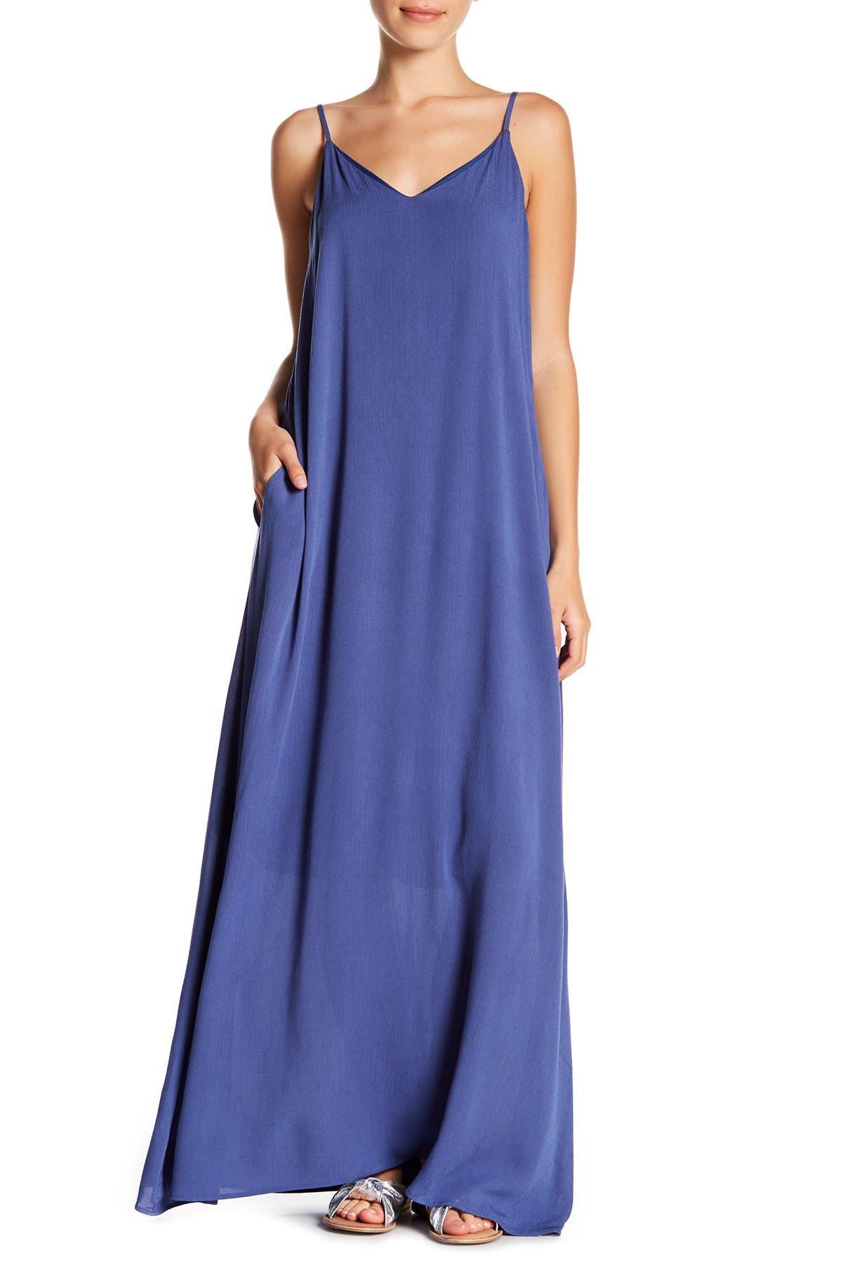 Image of WEST KEI V-Neck Gauze Maxi Dress