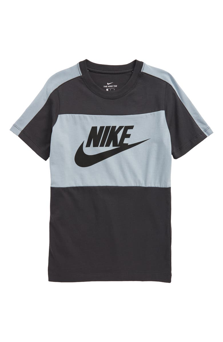 NIKE Sportswear Colorblock Shirt, Main, color, ANTHRACITE / OBSIDIAN / BLACK