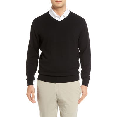 Cutter & Buck Lakemont V-Neck Sweater, Black